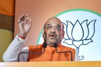 File photo. BJP chief Amit Shah denied the charge levelled by SP supremo Mulayam Singh Yadav that he engineered a quarrel in the Yadav family. Photo: PTI