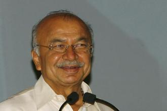 A file photo of former Union home minister Sushil Kumar Shinde. Photo: Reuters