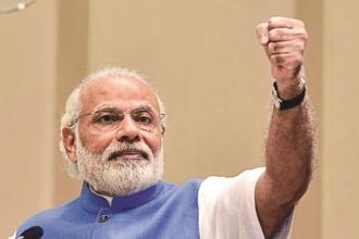 PM Narendra Modi on Tuesday addressed point-by-point the issues raised by the Opposition, including surgical strikes and allocations for MNREGA, agriculture sector and for Scheduled Castes in his reply to a debate on the Motion of Thanks on the President's Address which was adopted by the House later amid walkout by Congress. Photo: Hindustan Times