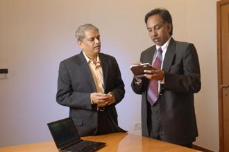 Axilor Ventures was launched by Infosys co-founders Kris Gopalakrishnan (left) and SD Shibulal. Photo: Mint
