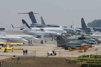 A file photo of the Aero Show in Bengaluru. This year's edition is expected to be the largest in recent times. Photo: Hemant Mishra/Mint