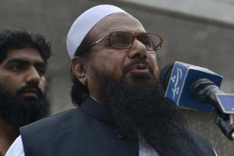 File photo. India's distrust stems from the fact that Hafiz Saeed was put under house arrest after the 2008 Mumbai attacks that killed 166 people, but he was freed within six months on the orders of the Lahore high court. Photo: AFP