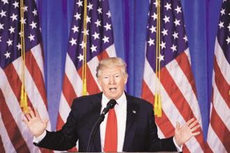 The 'Buy American, Hire American' slogan of US President Donald Trump is rapidly assuming Goebbelsian proportions. Photo: Reuters