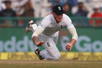 Ben Stokes at the India vs England Test in Mohali in November. Photo: Reuters