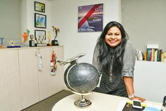 Kanika Tekriwal of JetSetGo at her office in Delhi. Photo: Ramesh Pathania/Mint