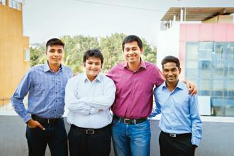 (From left) Belong co-founders Sudheendra Chilappagari, Rishabh Kaul, Vijay Sharma and Saiteja Veera. The recruitment start-up counts Cisco, Amazon, UnitedHealth Group, EY and Thoughtworks among its 80-plus clients.