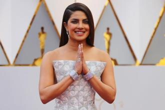 Priyanka Chopra arrives at the Oscars. Photo: Reuters