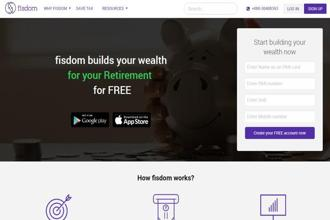 Fisdom lets individuals who sign up for its service choose their savings goal—short term, retirement and so on—and the amount that they want to invest.