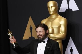 Amazon Studios scored a best actor trophy for Casey Affleck's portrayal of a grieving man in Manchester by the Sea. Photo: Reuters