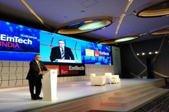 Norman Pearlstine, vice chairman, TIME, at the EmTech India 2017, the Mint-MIT Technology Review Conference on technology innovations, in New Delhi on Thursday. Photo: Pradeep Gaur/Mint