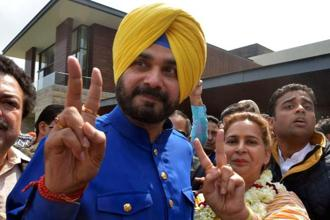 Less than three weeks before the Punjab assembly election,  former Test cricketer-turned-politician and BJP MP Navjot Singh Sidhu joined the Congress. Photo: