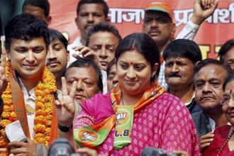 The victory in Uttar Pradesh was the victory of the Modi government and its policies, Union minister Smriti Irani. Photo: PTI