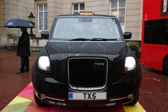 The first electric taxi to be built in the factory will go on sale in Britain in late 2017 with sales in Europe due at the start of next year. Photo: AFP