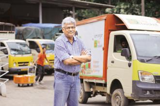 BigBasket co-founder and CEO Hari Menon. Online grocery start-up BigBasket is also talking with a host of investors to raise at least $100 million. Photo: Hemant Mishra/Mint
