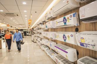 India's appliances and consumer electronics sector, including ACs,  is projected to grow at a CAGR of 13.4% to touch $20.6 billion by 2020, according to a study by consulting firm EY and CEAMA. Photo: Aniruddha Chowdhury/Mint