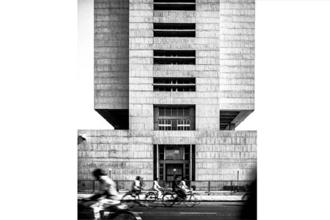 A side view of the Reserve Bank of India, all designed by Patel in Ahmedabad. Photos Credit: The Architecture of Hasmukh C Patel, Mapin