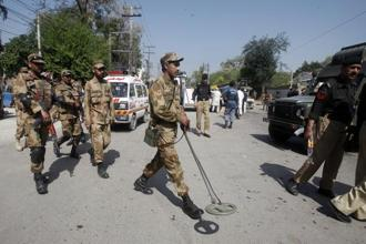 A file photo of Pakistan security forces. Photo: Reuters