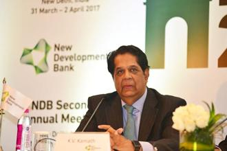 K.V. Kamath said the New Development Bank has invested $1.5 billion in as many as seven projects since its inception in July 2015. Photo: Ramesh Pathania/Mint