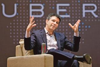 Several of Travis Kalanick's (above) direct reports either resigned or were asked to leave this year, including Jeff Jones, president of ride sharing and Kalanick's designated No. 2.  Photo: Reuters