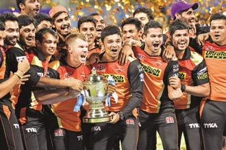 The Sunrisers had a perfect start this season by winning their first two games—against Royal Challengers Bangalore and Gujarat Lions—at home. However, they lost their next two matches away from home—against Mumbai Indians and Kolkata Knight Riders. Photo: Hindustan Times