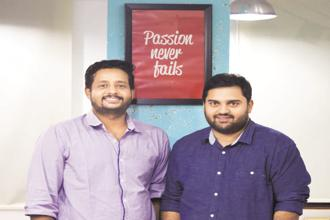 Wooplr co-founders Arjun Zacharia and Ankit Sabharwal.
