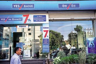 The fall in Yes Bank shares on Thursday was the maximum in five months. Photo: Bloomberg