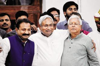 Chief minister Nitish Kumar was praised by commercial tax minister Bijendra Prasad Yadav for continuously supporting GST even when the BJP was opposed to it, when he was heading a NDA ministry in Bihar with the saffron party. Photo: PTI