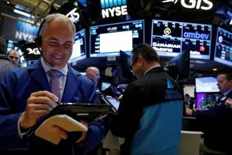 The Dow Jones Industrial Average rose 1.07% to 20,768.46, the S&P 500 gained 1.05% to 2,373.34 and the Nasdaq Composite added 1.18% to 5,980.25. Photo: Reuters