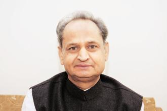 Former Rajasthan CM Ashok Gehlot. Gujarat elections is crucial for the Congress because ever since its drubbing in 2014 Lok Sabha elections, it has managed to form a government on its own only in Punjab. Photo: HT