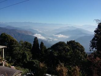 View of the valley from the courtyard of Gurung Guest House. Photographs by Anuradha Sharma