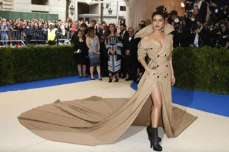 Actress Priyanka Chopra arrives at the Met Gala event in New York City. Photo: Reuters
