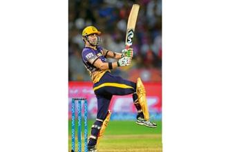 As of Wednesday, Gautam Gambhir was the second highest scorer in IPL-10, with four scores of over 50. Photo: PTI