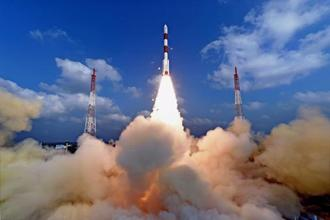 File photo. India will launch the South Asia satellite on 5 May to enable a full range of applications and services to neighbours in the areas of telecommunication and broadcasting applications. Photo: PTI