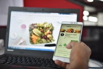 UberEATS follows the food delivery business model, charging restaurants a service fee to use its platform, and uses third-party delivery. Photo: Indranil Bhoumik/Mint