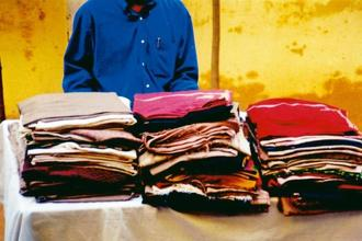 A file picture of 'shahtoosh' shawls seized by Delhi Police in Chandni Chowk on 17 March, 1999. A total of 96 shawls were seized. Photo Courtesy: Wildlife Protection Society of India