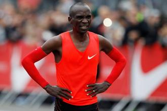 Kenyan long-distance runner Eliud Kipchoge  finished the marathon in 2:00:25. Photo: Reuters