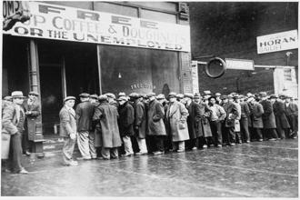 Unemployed men line up outside a soup kitchen in Depression-era Chicago in 1931. Poverty in the First World, particularly in countries such as the US, seems to have replaced inequality as the talking point across the globe. Photo: Wikimedia Commons