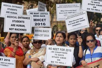A total of 11,38,890 students appeared for the NEET 2017 exam including 1,522 NRIs and 613 foreigners. Photo: PTI