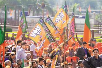 The 2016 survey shows that around 25% of the country's youth identifies itself with the BJP, making the party's base among the young, the biggest among all political parties. Photo: Ramesh Pathaniya/Mint