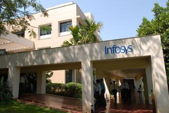 Interestingly, Infosys has said it will hire 10,000 Americans in the next 2 years and open 4 centres in the US as it seeks to counter moves by the US to tighten H1B visa norms.  Photo: Hemant Mishra/Mint