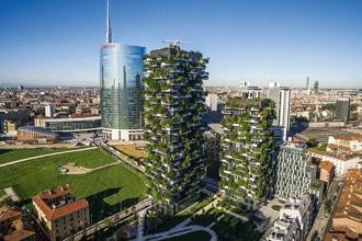 The Vertical Forest by Stefano Boeri, a pair of residential towers in Milan. Photo: Stefano Boeri
