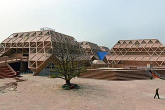 The Hall of Nations at Pragati Maidan, New Delhi, before it was demolished. Photo: Sonu Mehta/Hindustan Times.