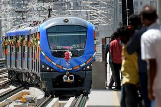 The funding was for the development of around 45kms metro rail system in Chennai under the Phase I. Photo: PTI
