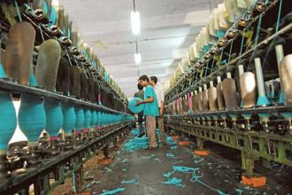 As far as the textile sector is concerned, the government has not proposed any GST rate yet. Photo: Pradeep Gaur/Mint