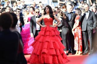 Bollywood actor Aishwarya Rai Bachchan, who first went to the Cannes Film Festival with 'Devdas' in 2002, will be presenting the Sanjay Leela Bhansali film again at the 70th edition of the film fest. (Above) Aishwarya Rai arrives for the screening of '120 Beats Per Minute' in Cannes on 20 May. AFP
