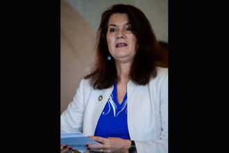 A file photo of Sweden's minister for trade and EU affairs Ann Linde. Photo: AFP