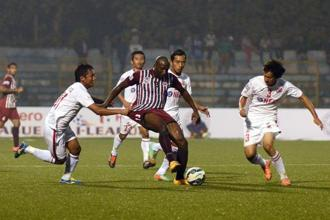 File photo of an Indian Super League (ISL) match between Mohun Bagan and Aizawl FC. Photo: HT
