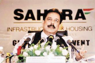 Sahara chief Subrata Roy. The Sahara group is seeking sale of its foreign hotels to raise funds to be deposited with Sebi as per Supreme Court orders. Photo:
