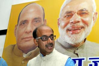A file photo of sports minister Vijay Goel. Photo: Mohd Zakir/Hindustan Times