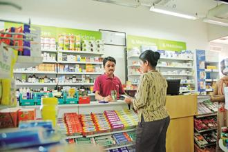 The drug retailers contend the margins will be further threatened by discounts by online pharmacies. Photo: Hemant Mishra/Mint